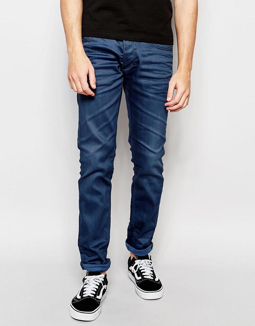 lyst jack jones blue jeans in slim fit with stretch in. Black Bedroom Furniture Sets. Home Design Ideas