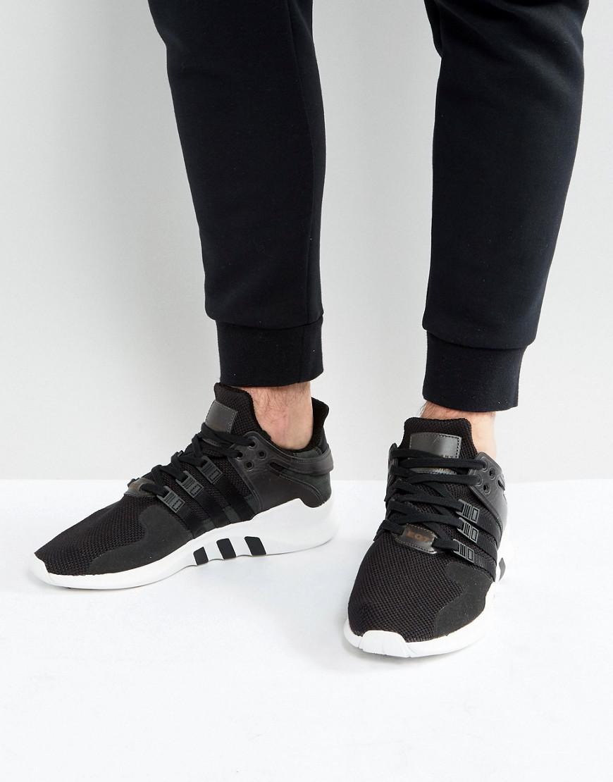 lyst adidas originals eqt unterstützung voraus, turnschuhe in schwarz bb1295