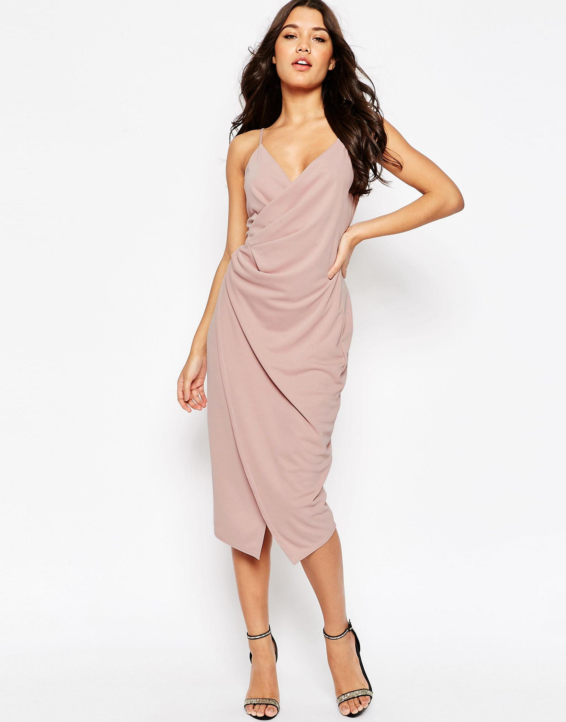 New york petite midi slip dress