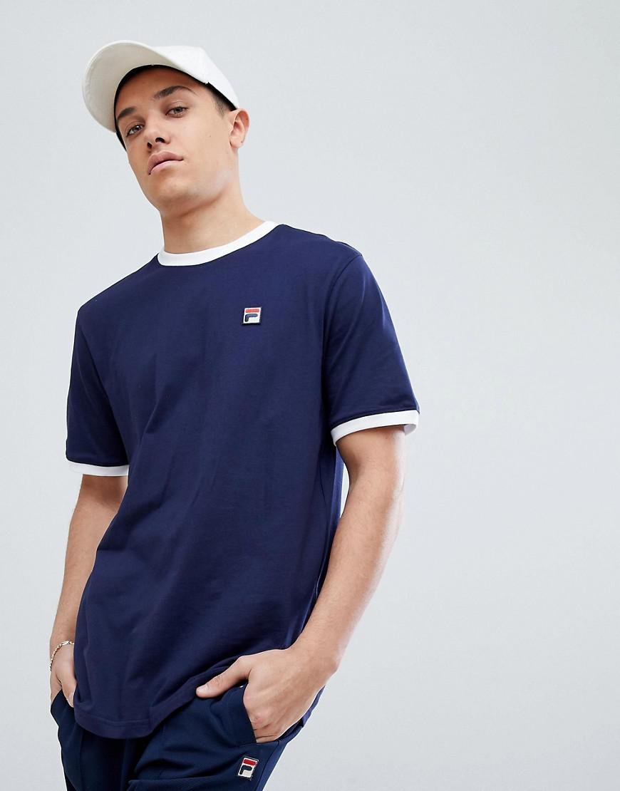 b65ae035402 Fila Vintage T-shirt With Small Box Logo In Navy in Blue for Men - Lyst