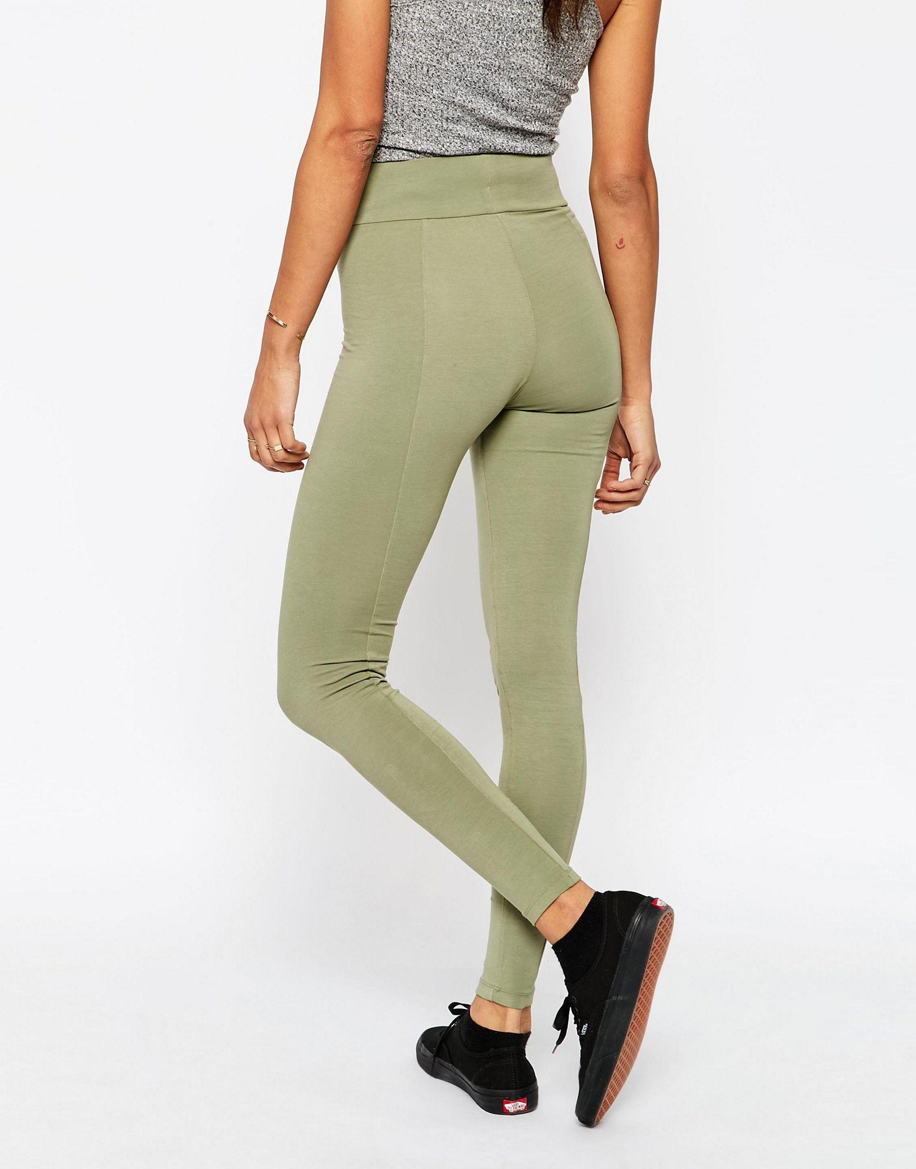 Asos Washed Deep Waistband Leggings