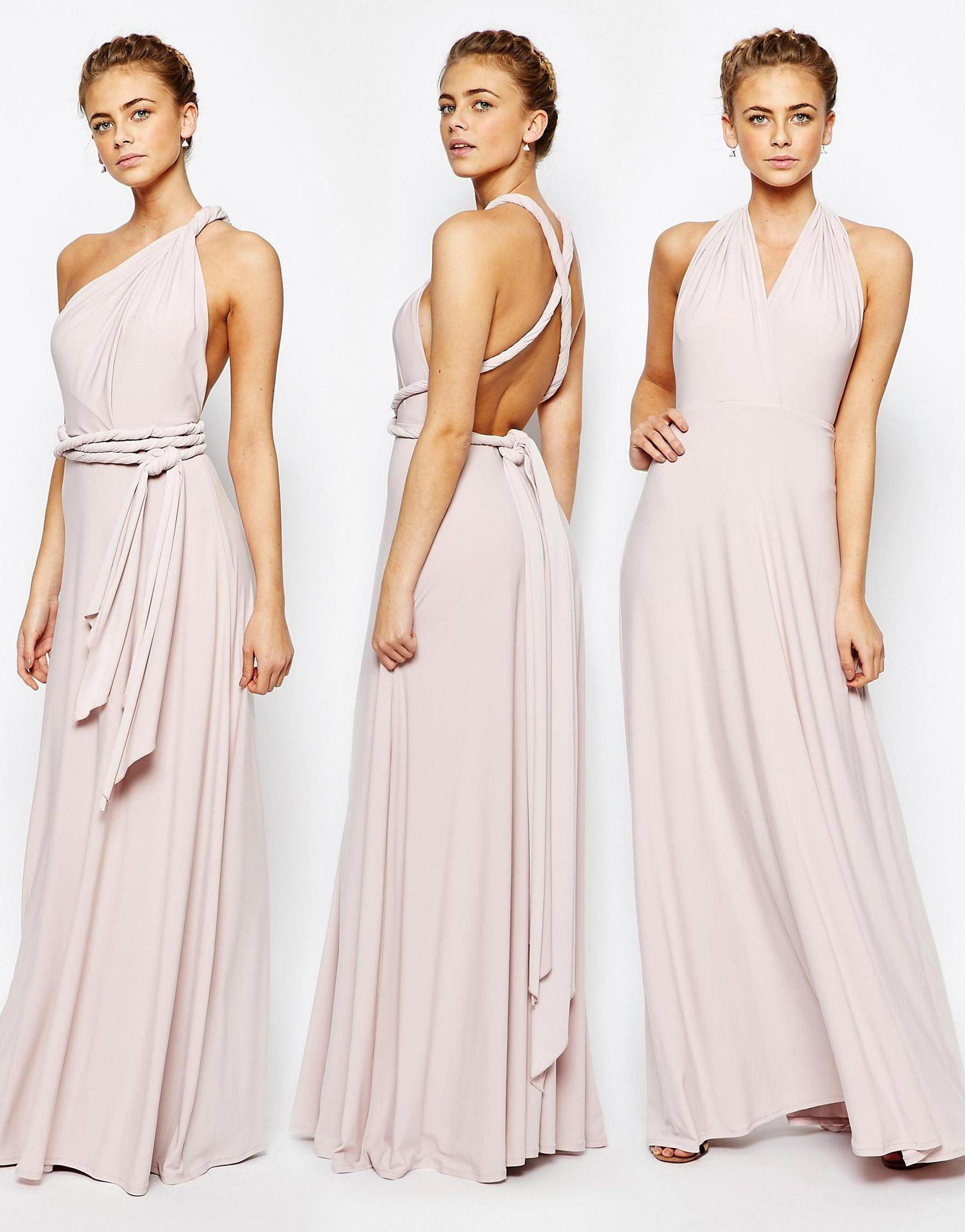 Lyst coast corwin v neck multiway maxi dress in blush in pink gallery ombrellifo Gallery