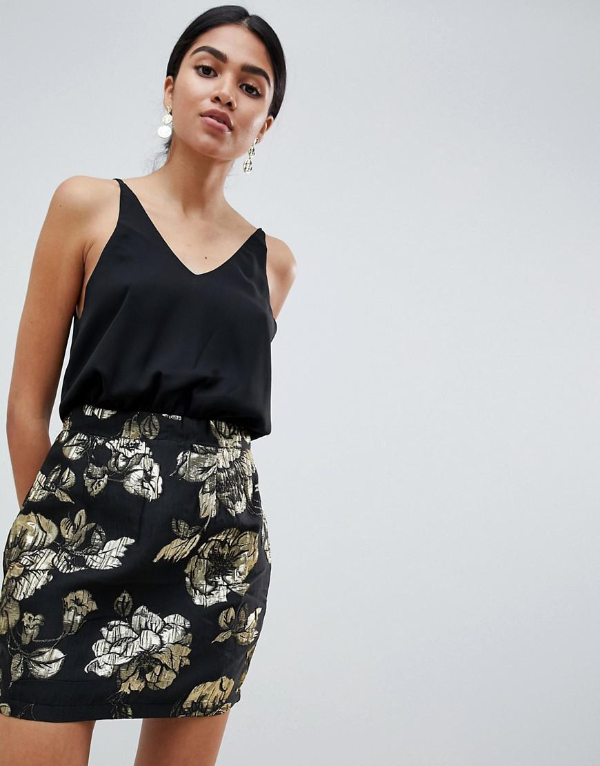 Lyst - AX Paris 2-in-1 Metallic Dress 7c0077b32