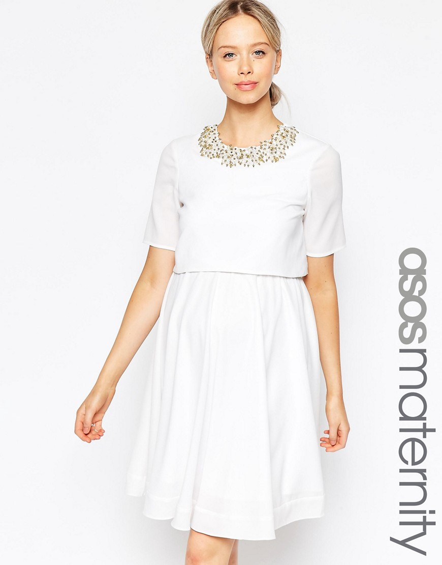 White Maternity Mini Dresses