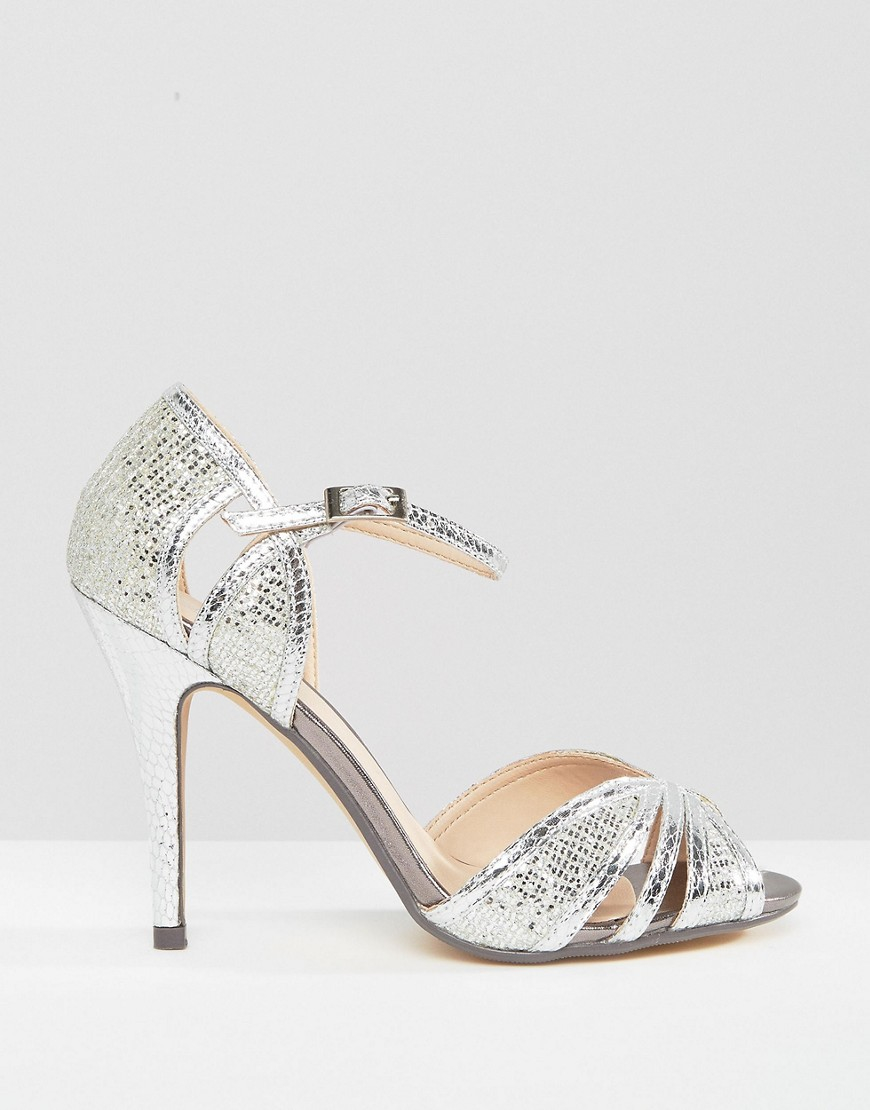 427e833350a2 Lyst - True Decadence Silver Heeled Sandals in Metallic