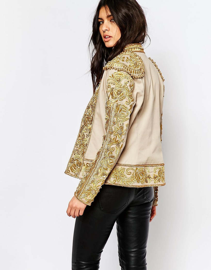 Lyst a star is born embroidered stretch cotton trophy