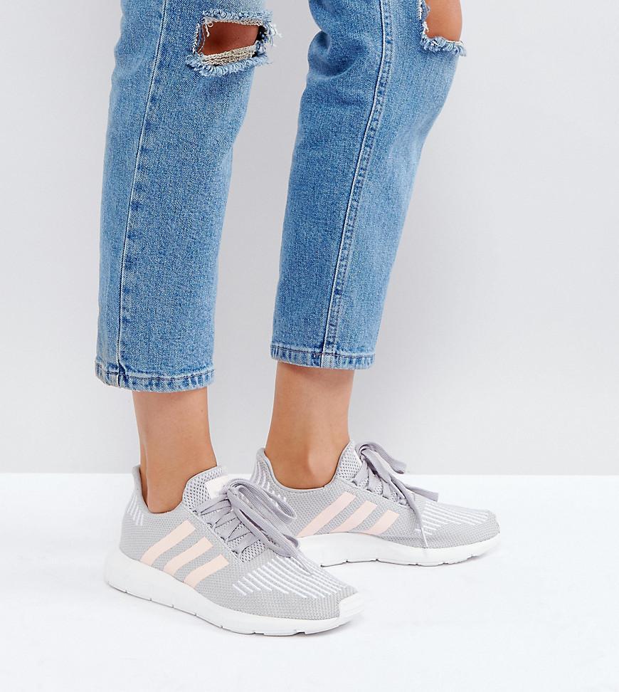 71f9d0d662375 adidas Originals Originals Swift Run Sneakers In Gray With Pink ...