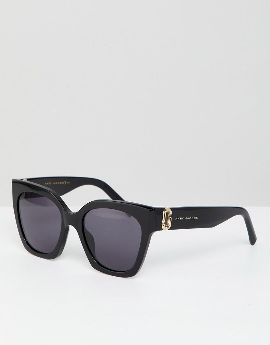 Marc Jacobs - Black Lunettes de soleil carres oversize - Lyst. Afficher en  plein écran 726efe24486c