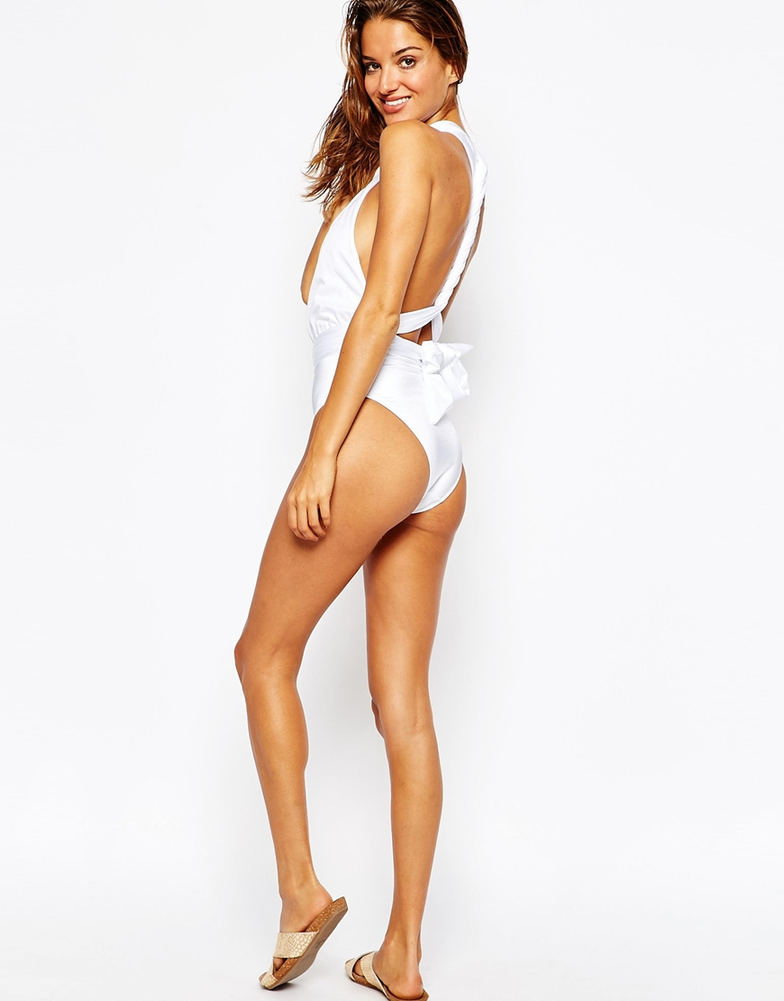 8b7238a5c893a Lyst - ASOS Multiway Swimsuit in White
