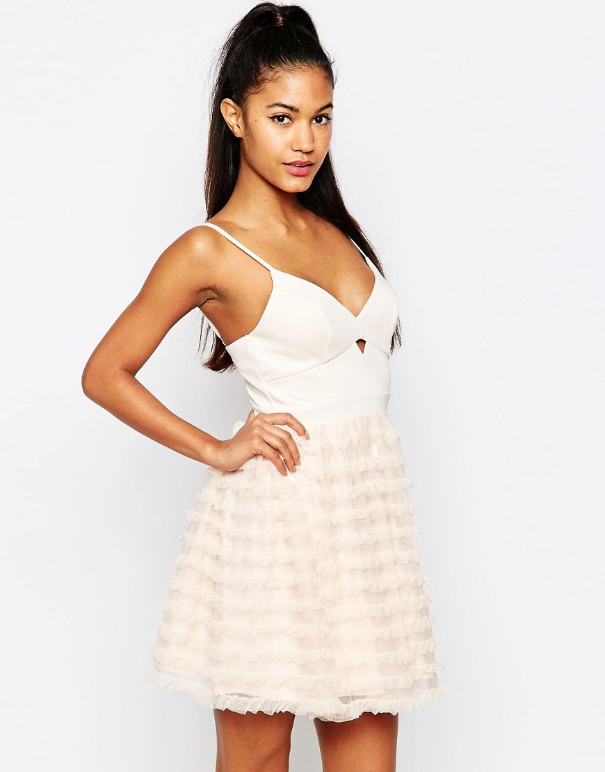 Lipsy Ariana Grande For Rara Mini Prom Dress in Pink