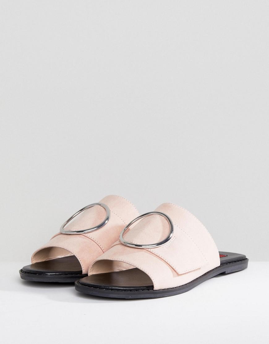 3ed607209c0032 Lyst - London Rebel Round Buckle Trim Sandal in Pink