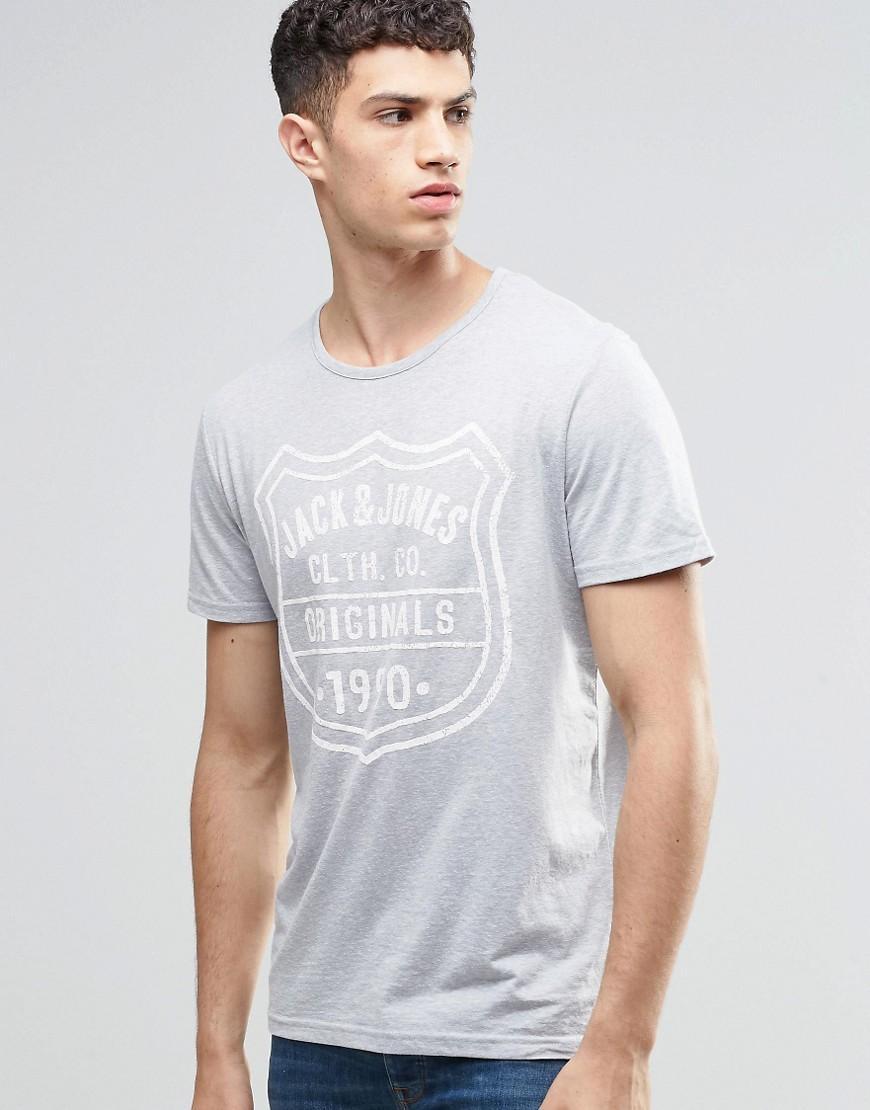 lyst jack jones t shirt with fleck in gray for men. Black Bedroom Furniture Sets. Home Design Ideas