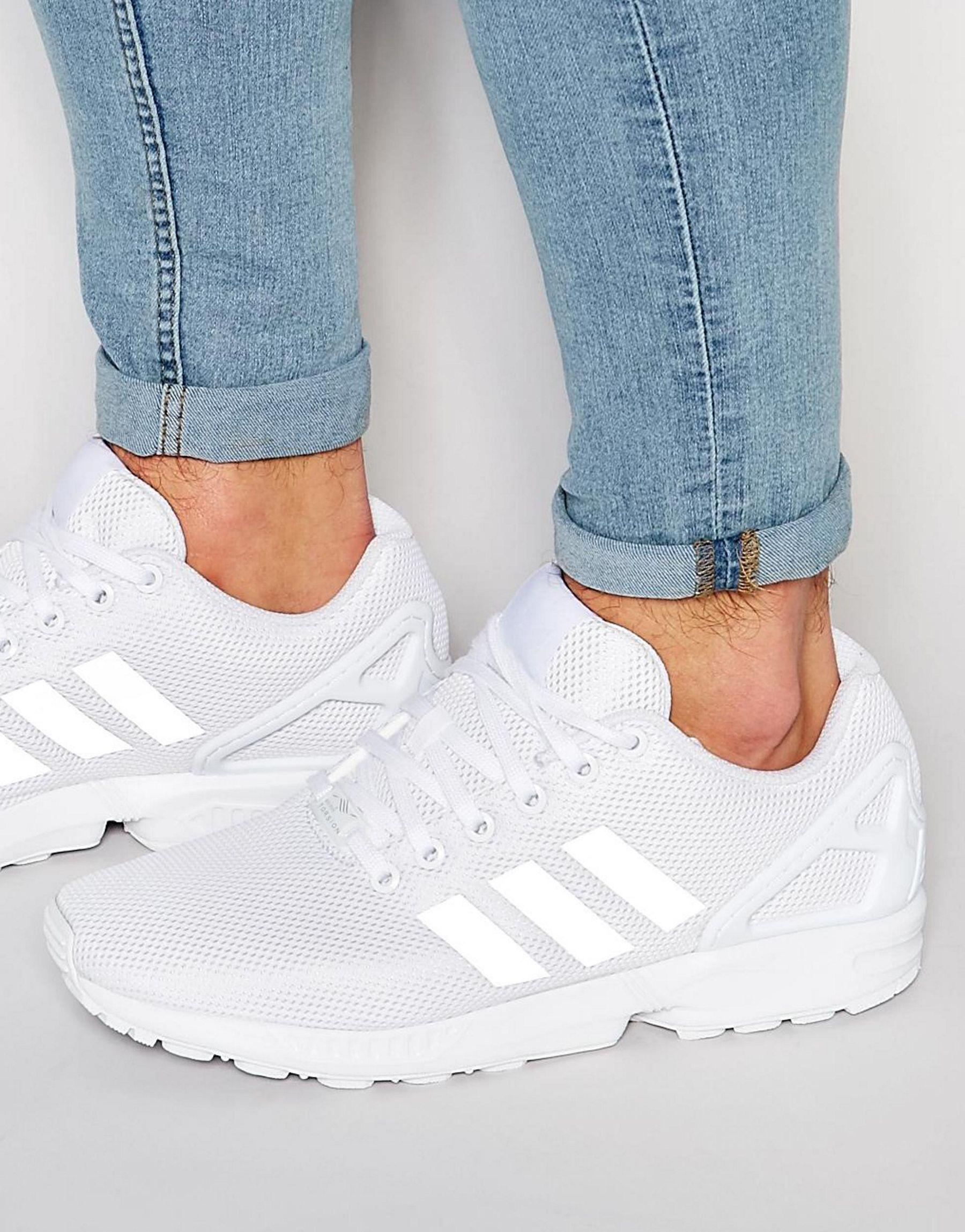 9aa7742ae ... new arrivals lyst adidas originals zx flux trainers s79093 in white for  men 661b8 b17ee