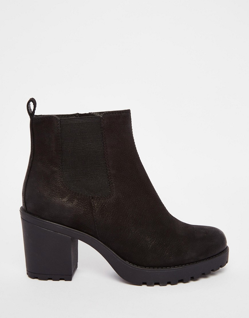 vagabond grace black leather ankle boots in black lyst