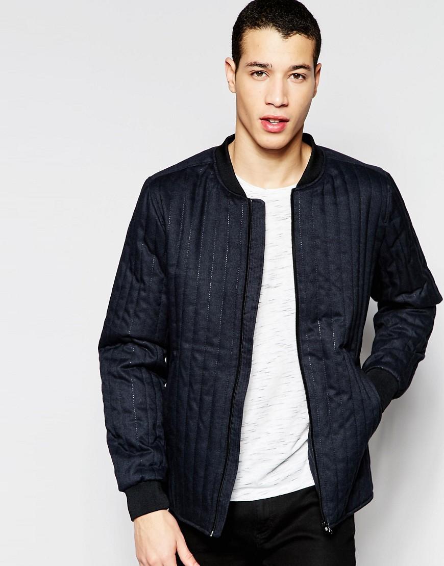 lyst selected bomber jacket in blue for men. Black Bedroom Furniture Sets. Home Design Ideas