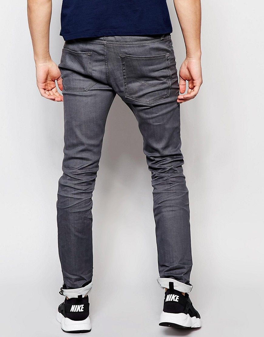 jack jones multicolor slim fit jeans in grey for men lyst. Black Bedroom Furniture Sets. Home Design Ideas