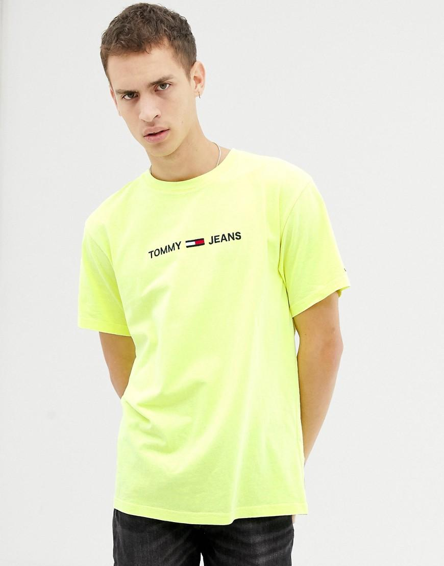 8c3c75062 Lyst - Tommy Hilfiger Regular Fit T-shirt With Chest Logo In Yellow ...