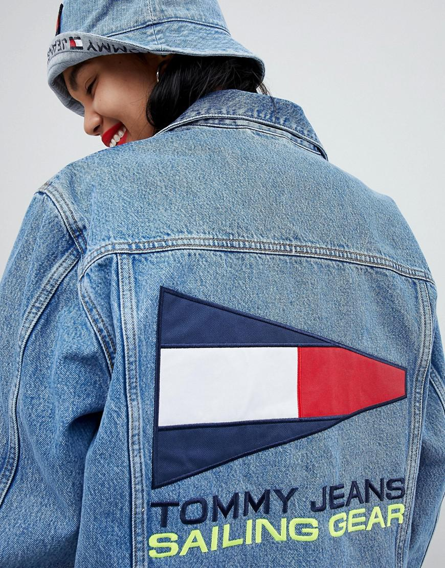 28112d968 Tommy Hilfiger Tommy Jean 90s Capsule 5.0 Denim Jacket With Back ...