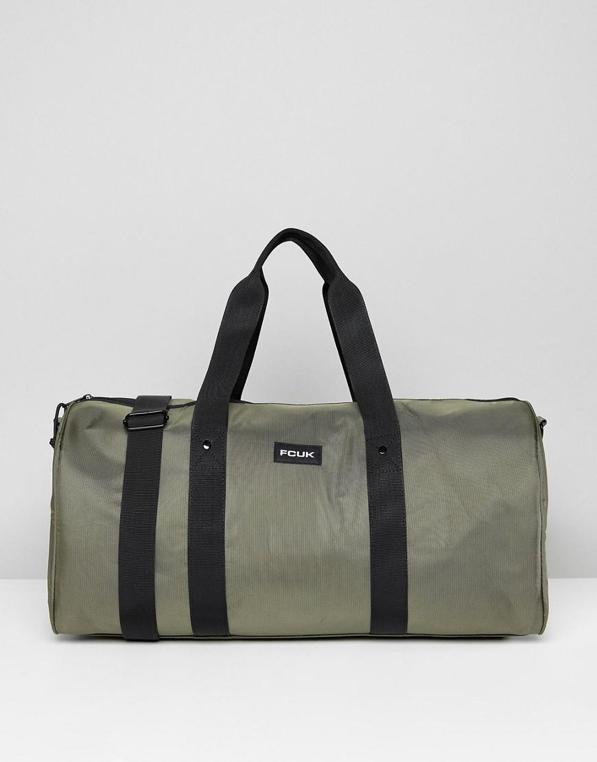 b31734975aa41 French Connection Nylon Duffle Bag In Khaki in Green for Men - Lyst