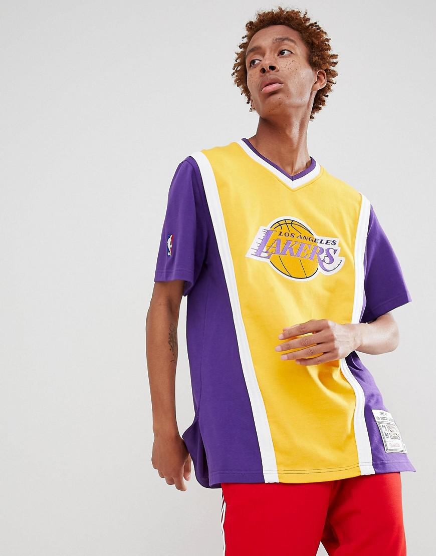 ac02fa0a8de451 Mitchell & Ness Nba Lakers T-shirt In Purple in Purple for Men - Lyst