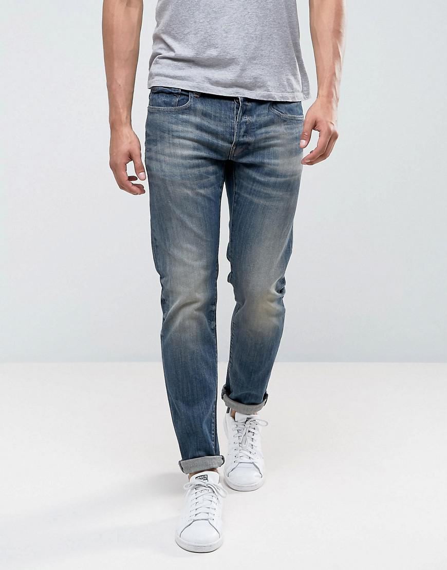 G star mid wash 3301 tapered bootcut jean