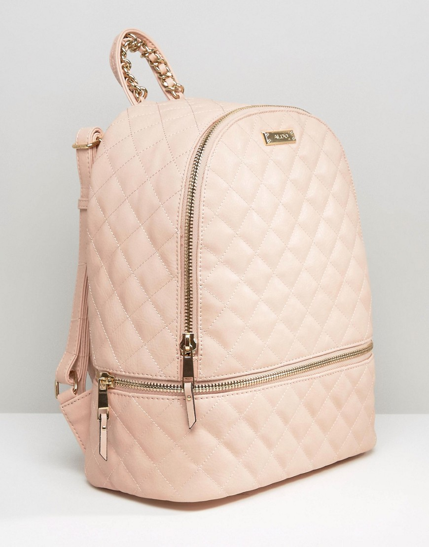 Aldo Quilted Backpack In Blush Red In Red Lyst