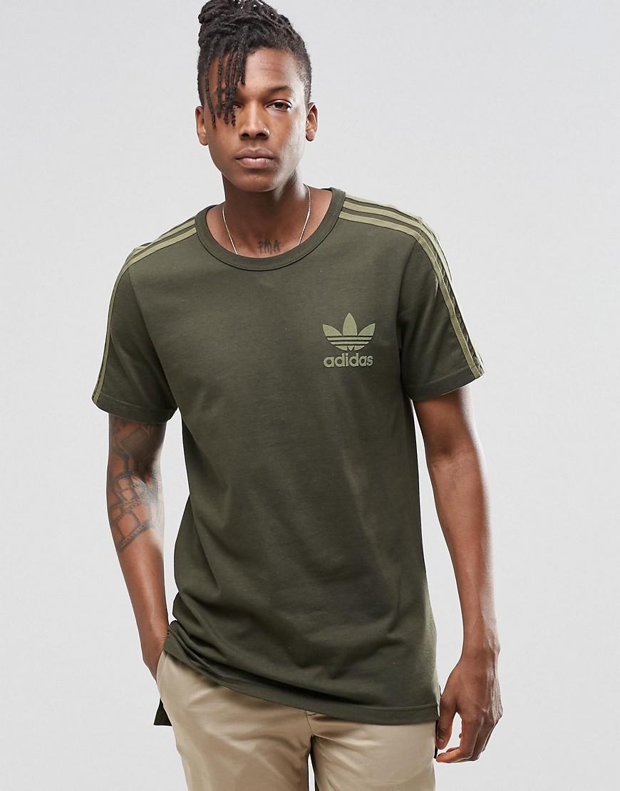 adidas originals green adicolour longline fashion t shirt b10712 for. Black Bedroom Furniture Sets. Home Design Ideas