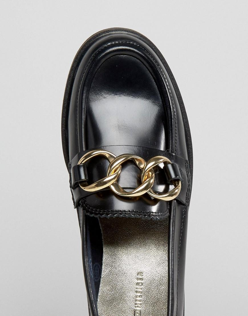 d891175f03d Lyst - Tommy Hilfiger Daisy Chain Loafers in Black