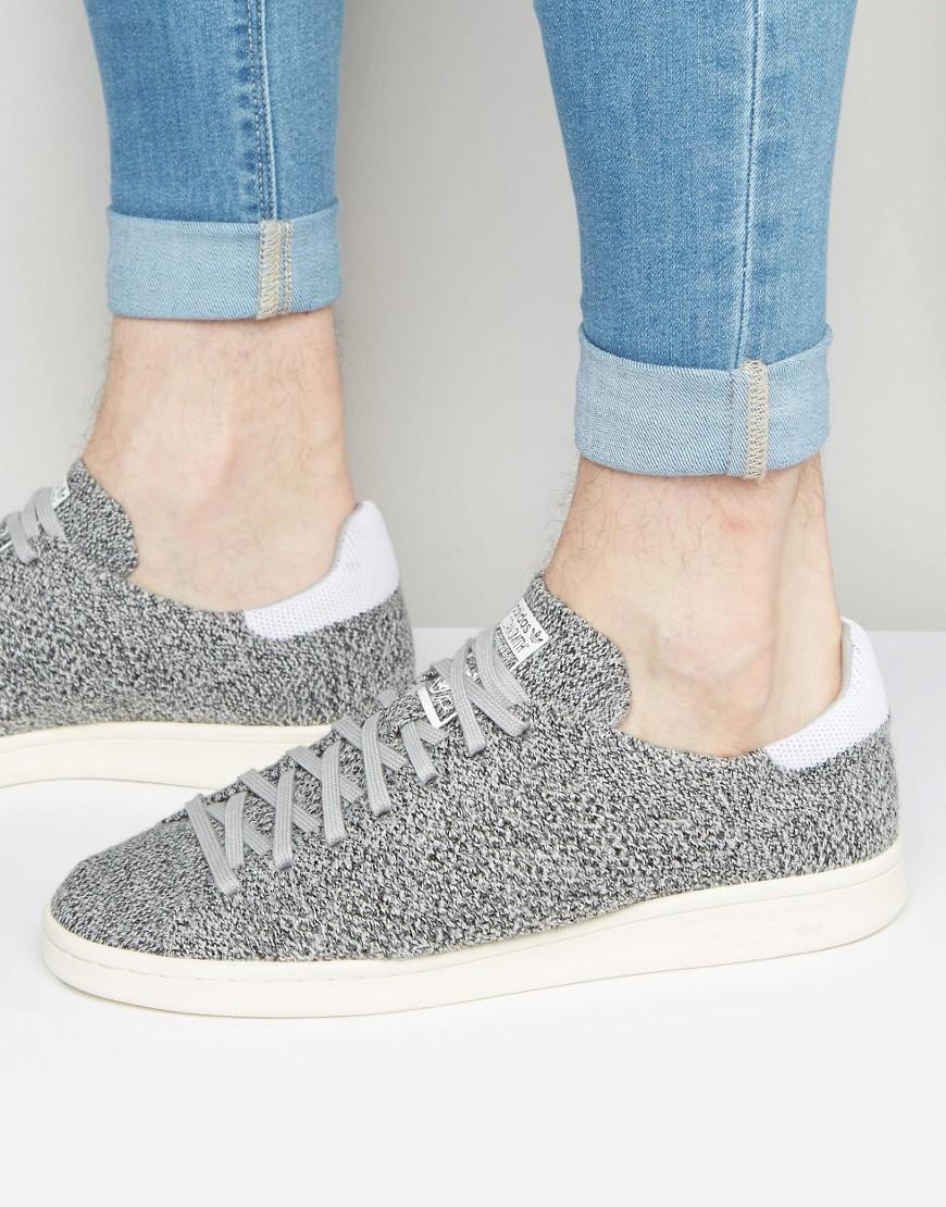 Lyst adidas Originals Stan Smith primeknit formadores en gris s80069