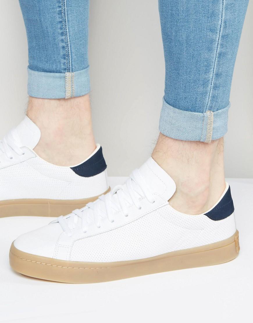 Adidas originali corte vantage scarpe bianche s76201 in bianco