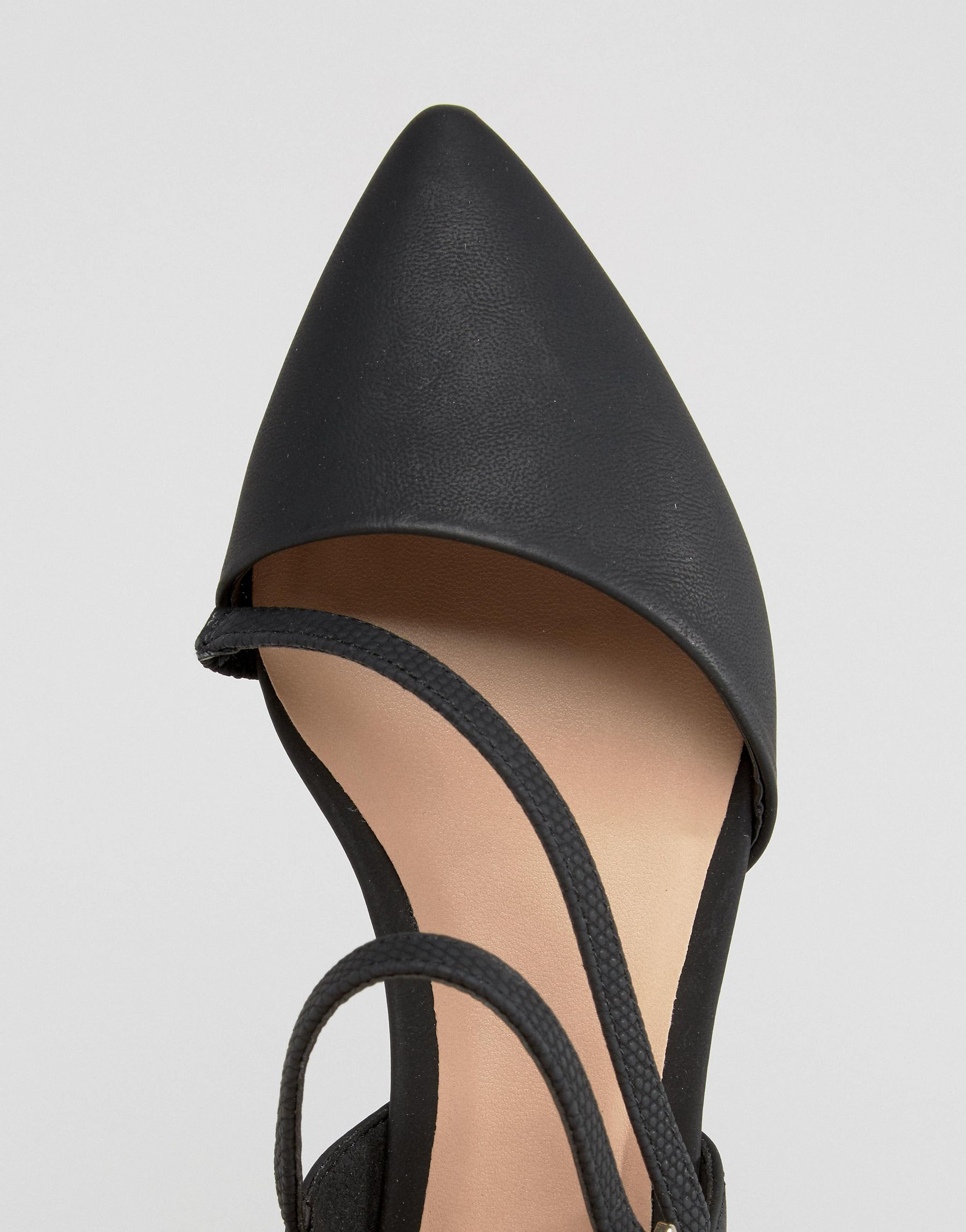 Call It Spring Nespolo Strap Detail Point Flat Shoes In