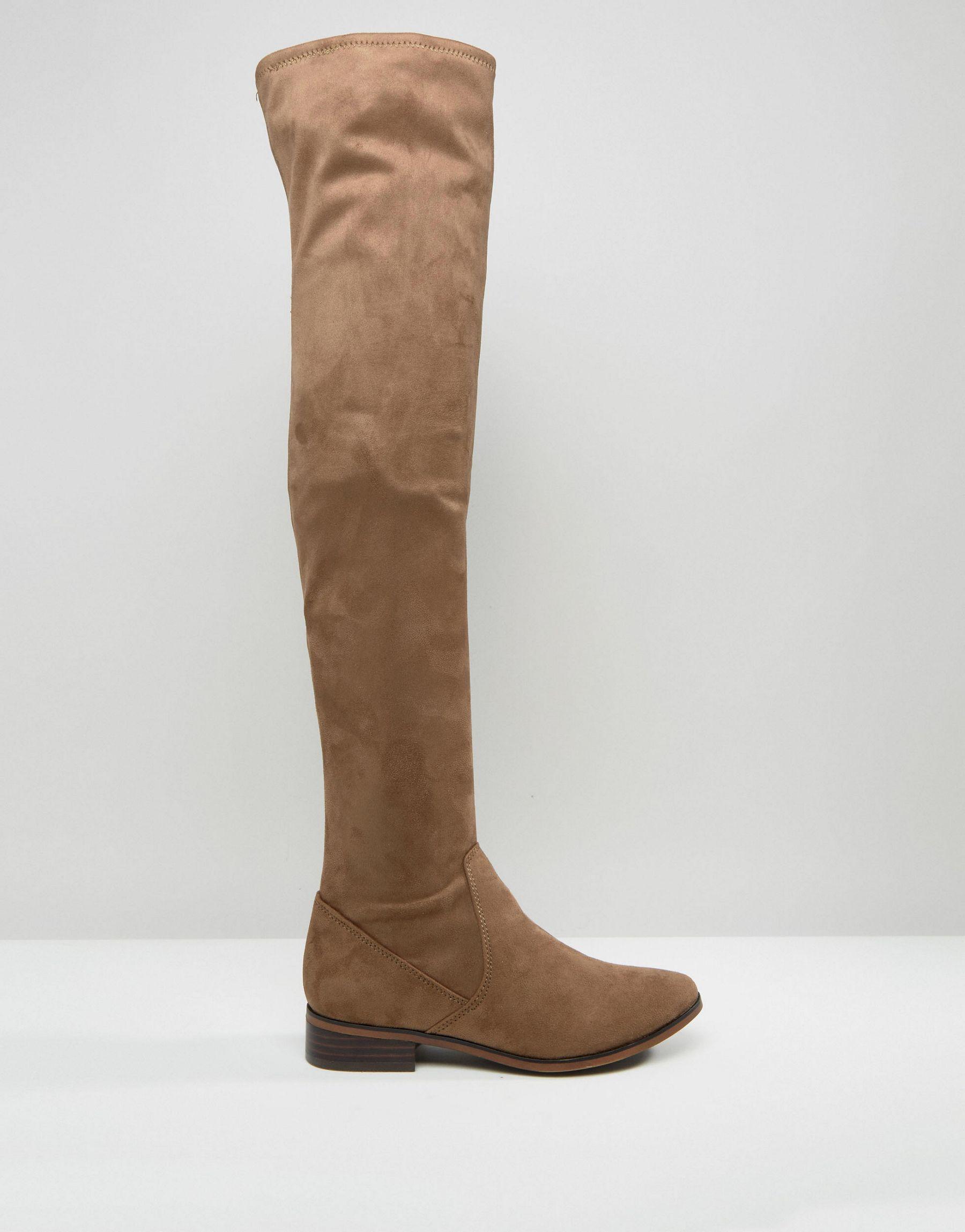 638f5b6762b Lyst - ALDO Ldo Elinna Flat Over The Knee Boots in Brown