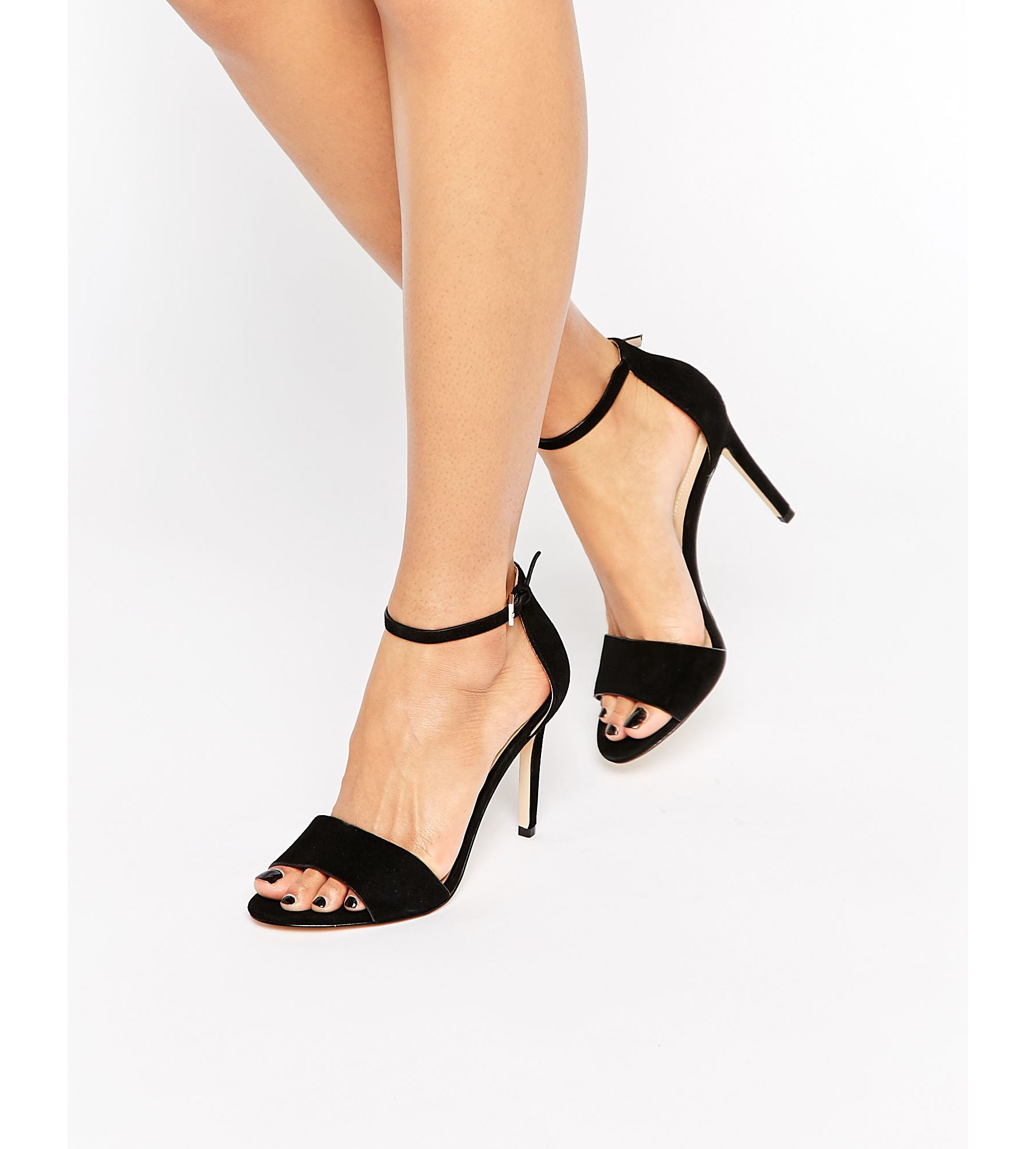382573d34ac1 Lyst - ALDO Ldo Fiolla Ankle Strap Suede Heeled Sandals in Black