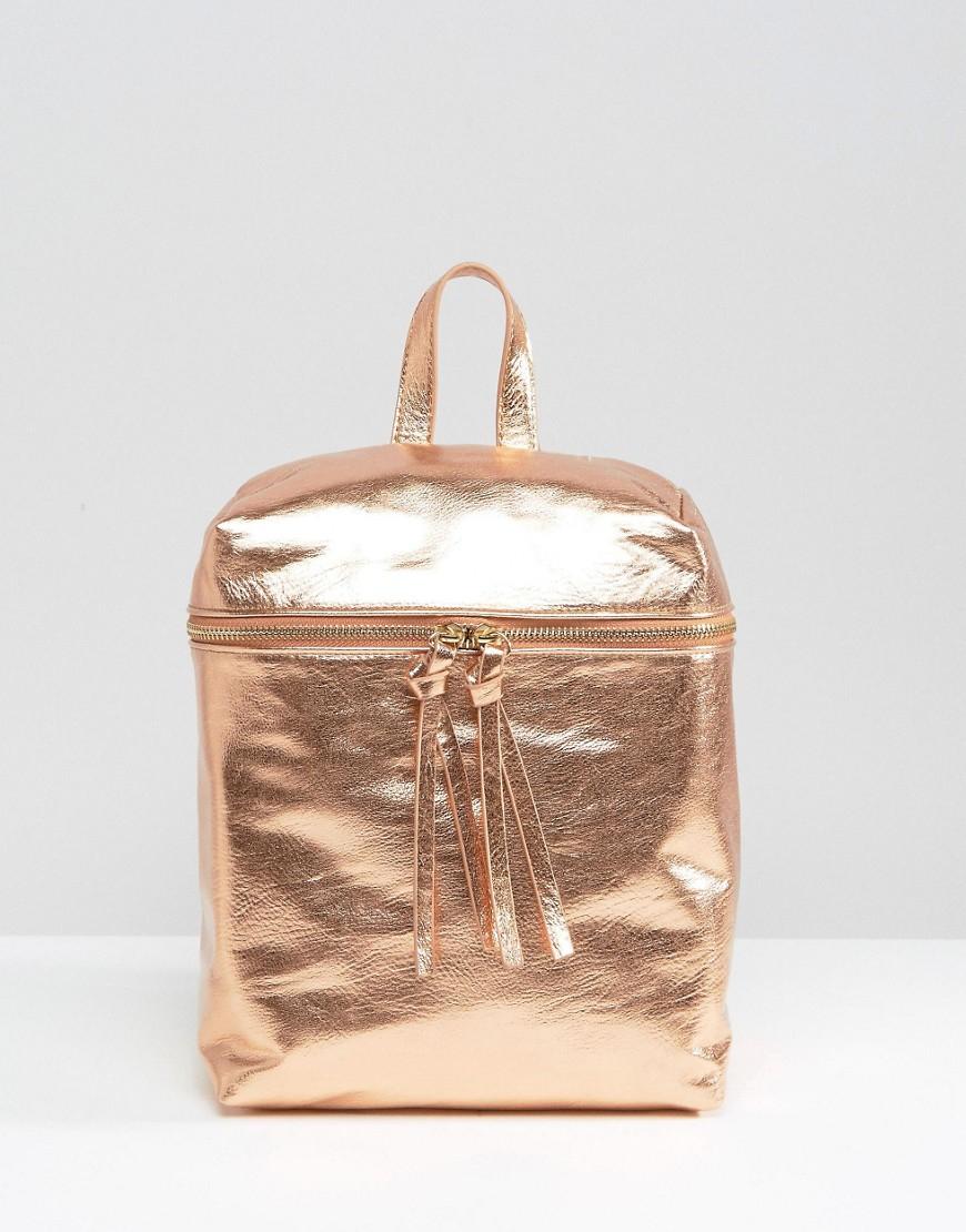 Missguided Metallic Backpack in Metallic