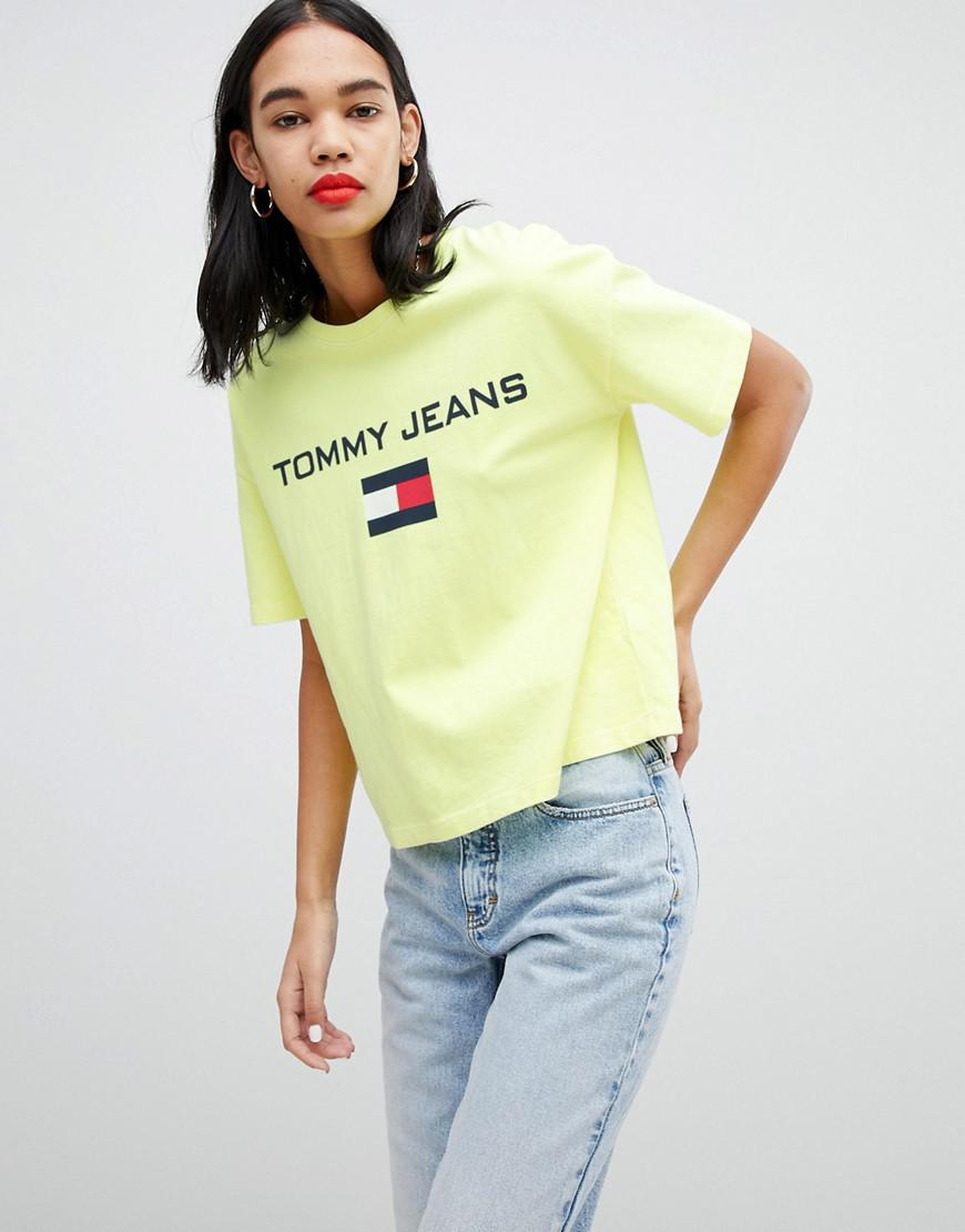 af7f069ca77 Lyst - Tommy Hilfiger 90s Capsule 5.0 Logo T-shirt in Yellow