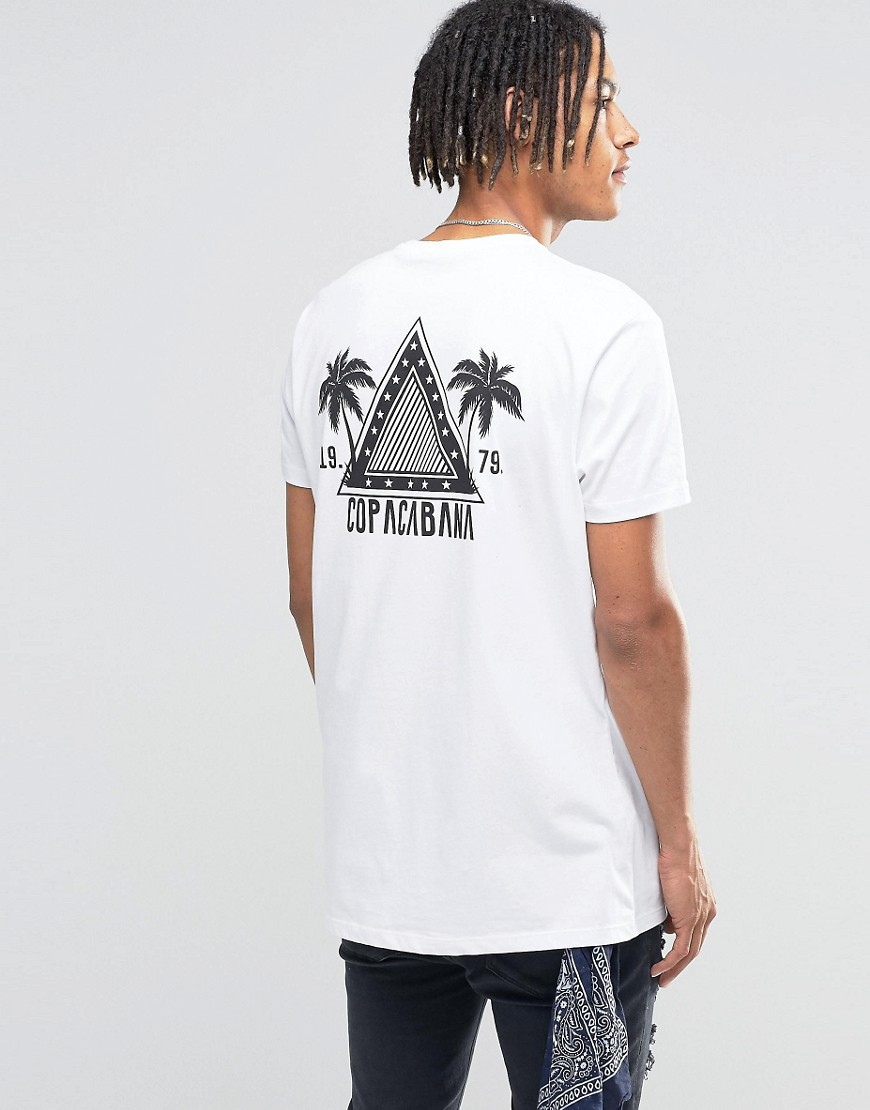 Lyst asos longline t shirt with triangle chest and back for Asos design free t shirt