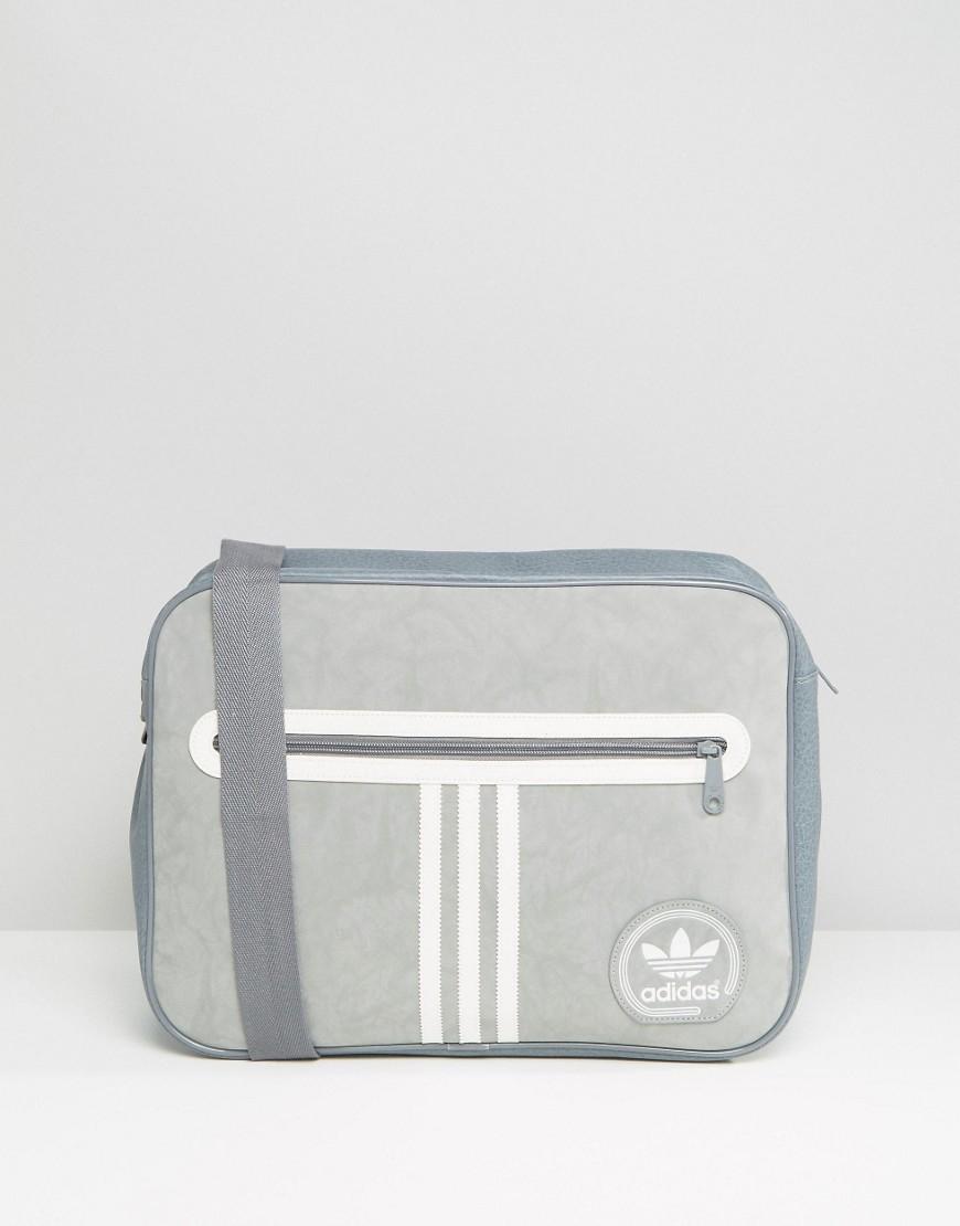 4e36de1339bb Lyst - Adidas Originals Airliner Suede Bag in Gray for Men