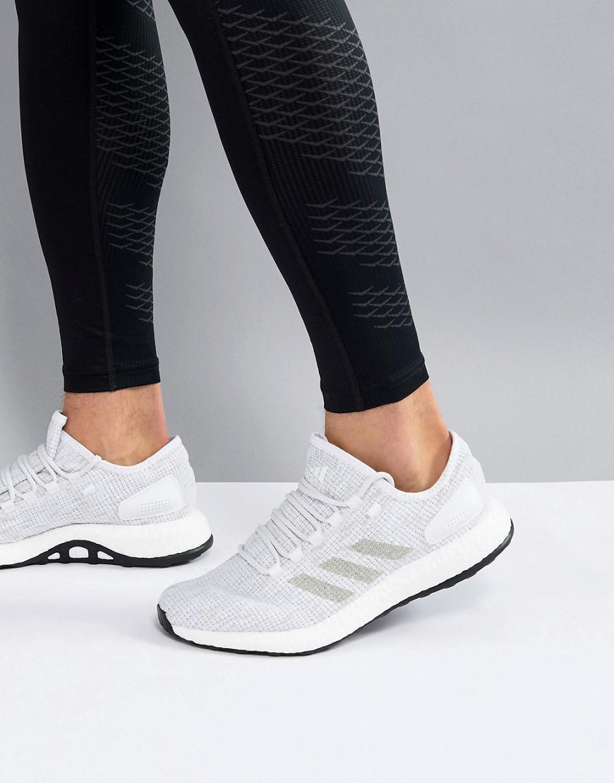Lyst In Adidas Correndo Pureboost In Lyst Bianco Bb6277 In Bianco. dc058a