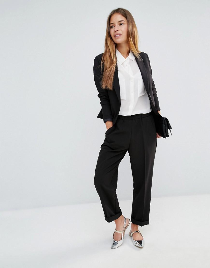 vero moda formal blazer in black lyst. Black Bedroom Furniture Sets. Home Design Ideas