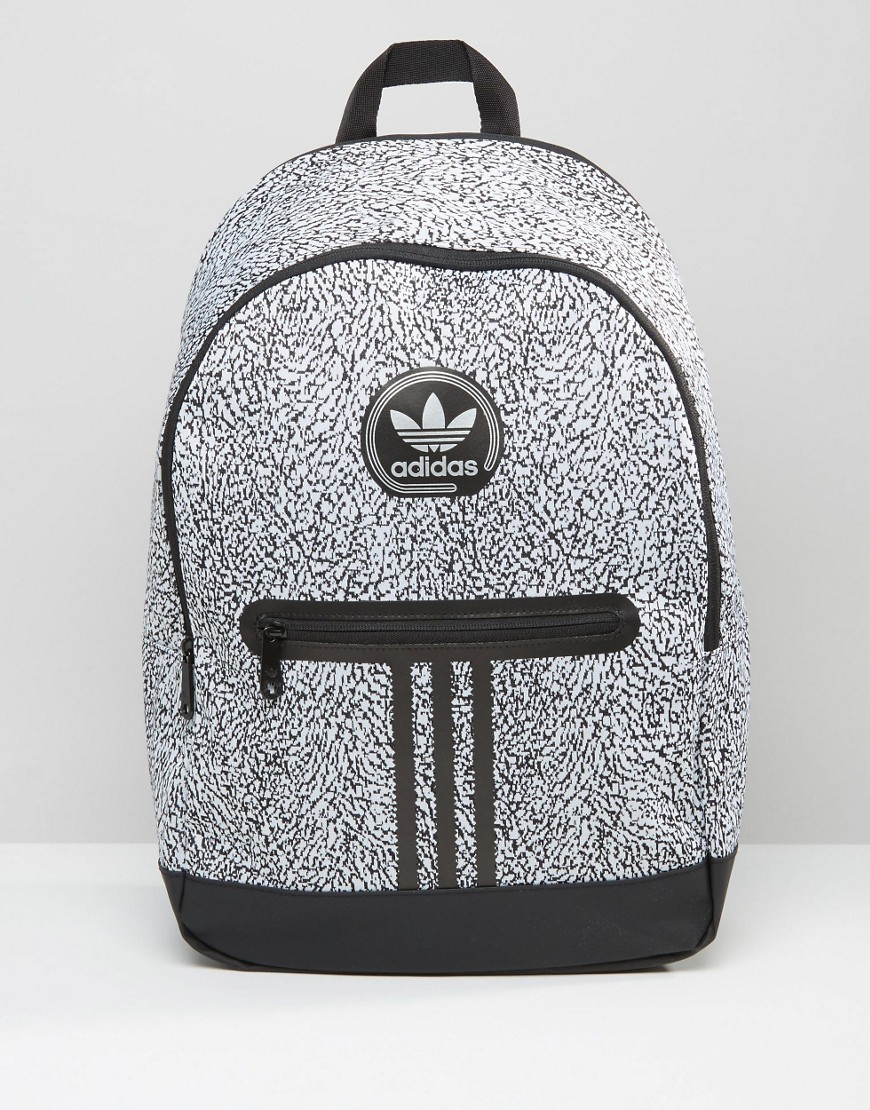 1d4ab3ae99d8 Adidas originals Backpack With Print In Black Ay7837 in .