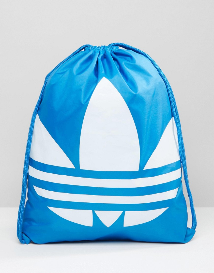 09e4714caeb0 Adidas Originals Drawstring Backpack In Blue Aj8987 in Blue for Men ...