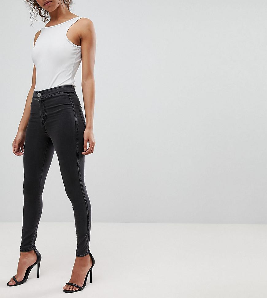 Cheap Prices Reliable Cheap Deals ASOS ASOS DESIGN Petite Rivington high waist denim jeggings in with two ripped knees Sast Online 2018 Cool RffWQ