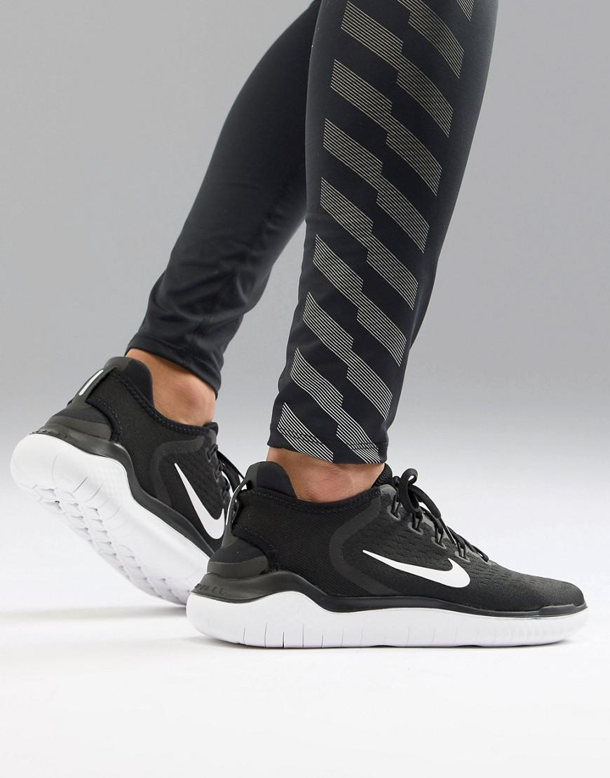 3d37397a0255 Lyst Nike Free Run 2018 Trainers In Black 942836 001 in Black for Men
