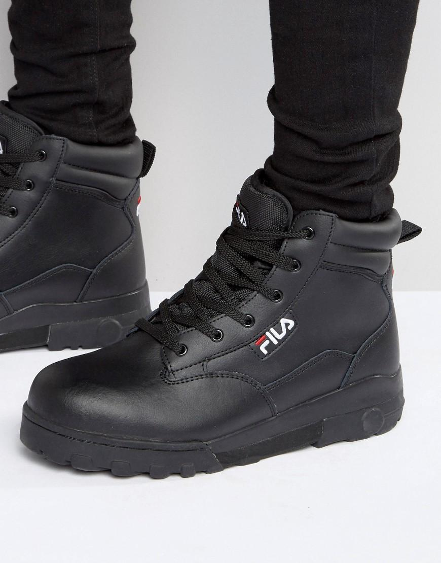 cae1a706dd01 Lyst - Fila Grunge Mid Laceup Boots in Black for Men