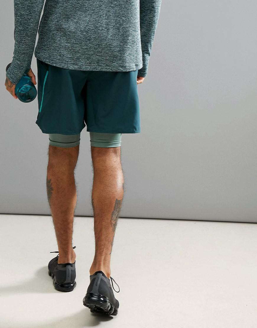 918eaf514e20d Nike Flex Distance 7 Inch 2-in-1 Shorts In Green 892905-328 in Green ...