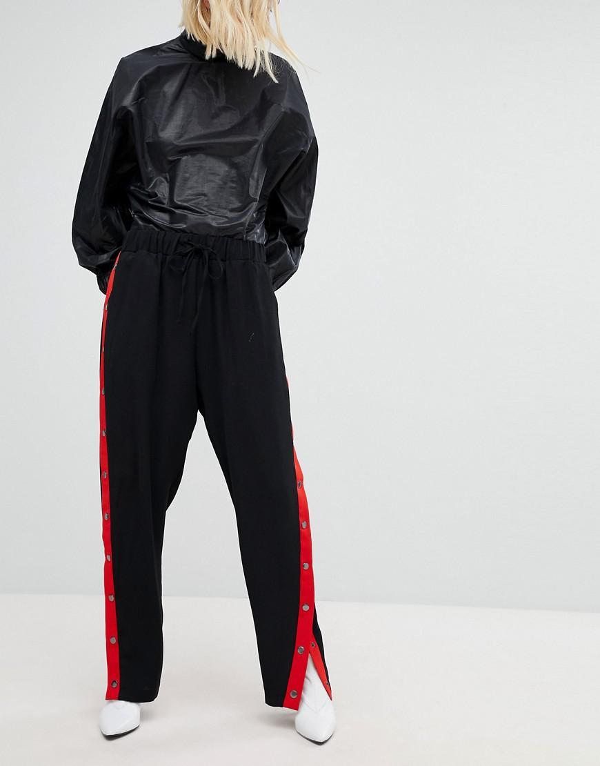 Ct Avec New Look Boutons Pression Sur Lyst Le Pantalon En Large qEaF7n0R