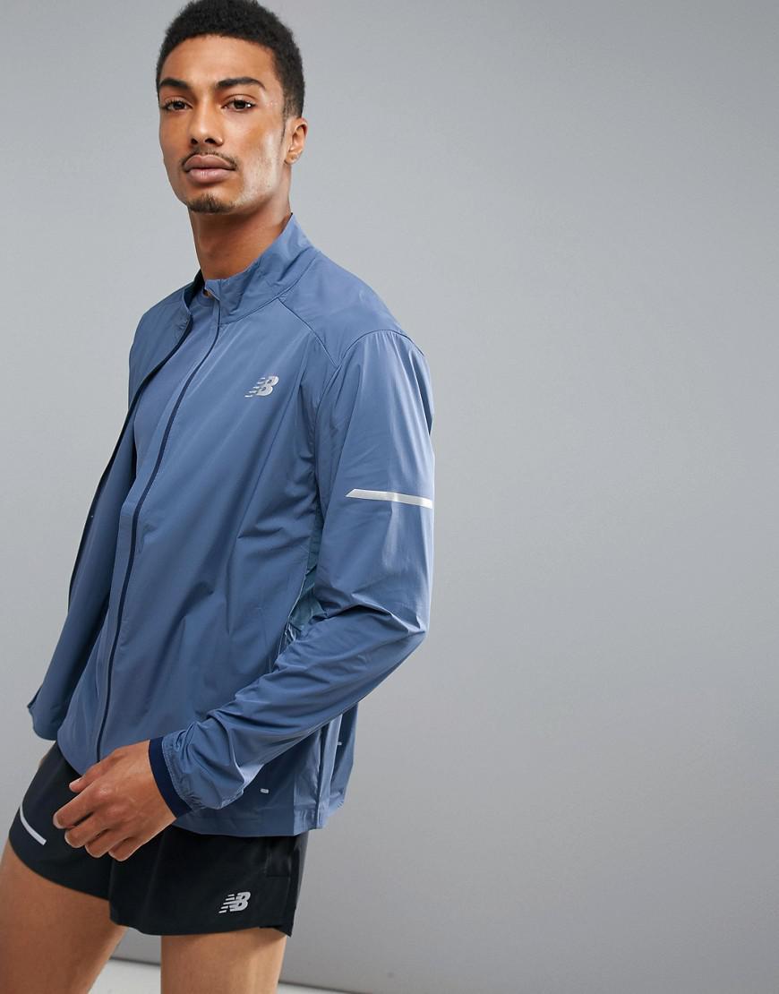 New Balance Running Speed Run Jacket In Blue Mj73253vti In Blue For