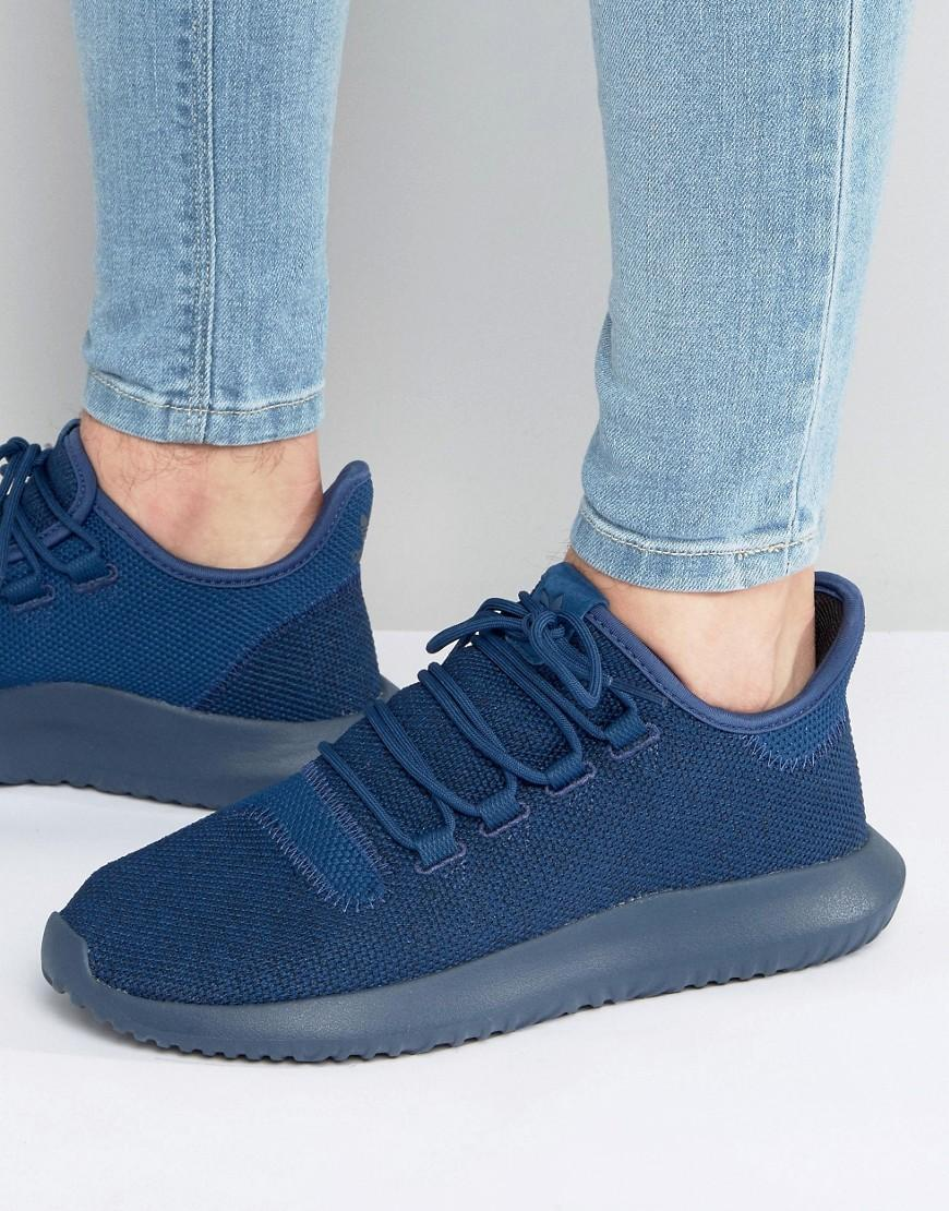 separation shoes 943ab e549a Adidas Originals - Tubular Shadow Knit Sneakers In Blue Bb8825 for Men -  Lyst. View fullscreen