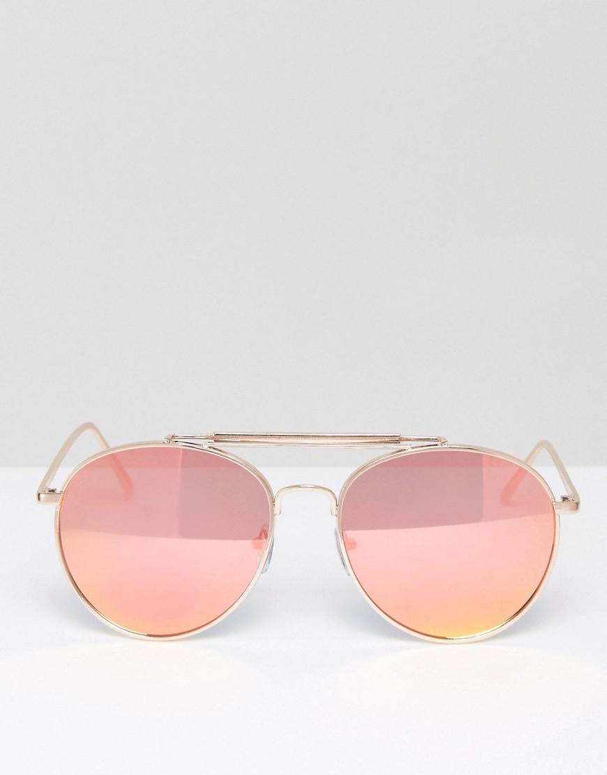 cdce412b73e98 Lyst - ALDO Gold Aviator Sunglasses in Metallic
