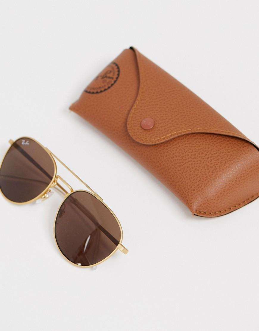 b14d4f3e3 Ray-Ban 0rb3589 Aviator Sunglasses in Metallic for Men - Lyst